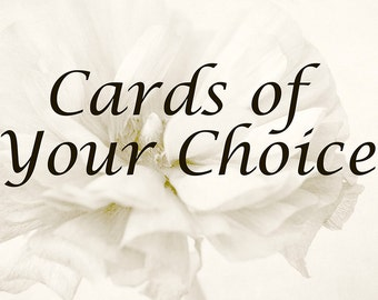 Photo Cards, Choose Any Photographs, Dreamy Landscapes, Gardens, and Florals, Blank Greeting Cards