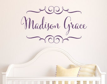Childrens Name Decal, Baby Name Decal, Custom Nursery Wall Decal, Personalized Name Decal, girl name decal