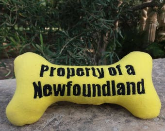 Dog breed personalized squeaky toy bone - FREE postage - Unique hand made