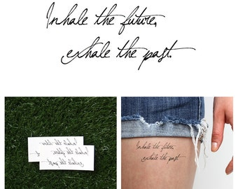 Inhale/ Exhale - Temporary Tattoo Quote (Set of 2)