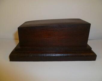 rectangular wooden Maple and oak srerta2 base