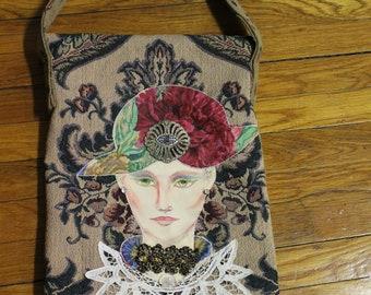 NAB Designs- One of A Kind Handmade Fabric College Handbags