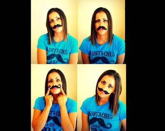 The Sticky 'Staches- Little Man Party-Mustache stickers-Little Man-photo props-Peel and Stick Mustaches-photo booth-costume-Mustache party