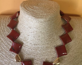 Necklace in red Jasper