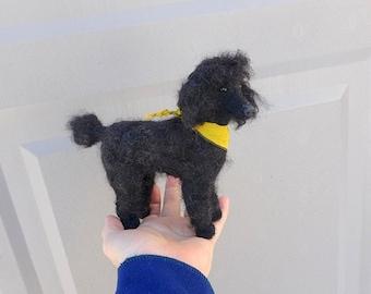 Handmade Animal Sculpture / Custom Pet Portrait / Your Pet in Miniature / Needle Felted Dog / Cute / poseable