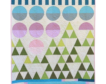 Mountain Scene Quilt Pattern by Heather Black - Quiltachusetts