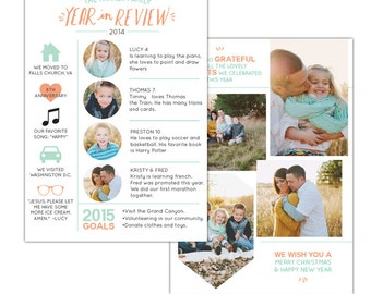 5x7 Year in review card - Instant download - e1165