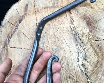 Hand forged iron hook