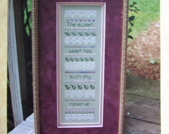 "Vintage Cross-Stitch Pattern: ""Violet and Lace Sampler"" by Betsy C. Stinner"