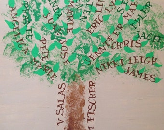 Family Tree Acrylic Painting