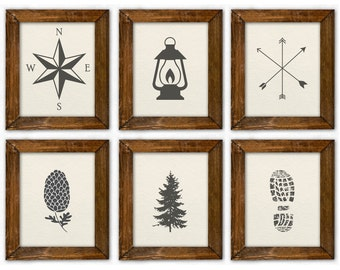 Woodland Boy Room Art, Woodland Nursery Art, Camping Boy Room Art, Nursery Camping Art, Woodland Prints. Adventure Nursery. Rustic Nursery.