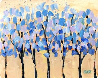"decorative wall art - ""Blueberry"" - original acrylic painting - home decor"