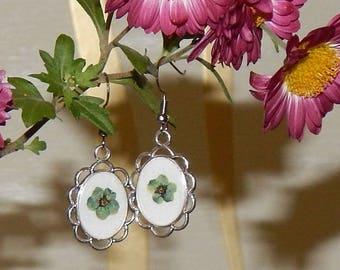 Real Flower earrings, Flower Resin Earrings, Botanical earrings, Resin earrings,  Flower earrings  # et 719