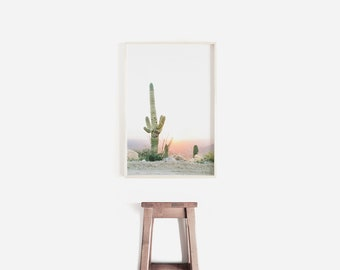 art mural cactus, saguaro cactus print, minimaliste décor à la maison, art botanique, succulentes muraux, cadeau pour elle, impression de cactus, mur végétal imprimé