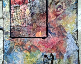Detail of Summer - Original ACEO - Mixed Media