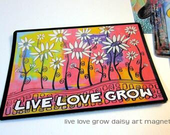 """Art Magnet Live Love Grow 3.5"""" x 5"""""""