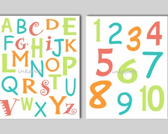 Playroom Wall Art, Playroom Sign, Playroom Poster, Alphabet, Alphabet Wall Art, Alphabet Nursery, Alphabet Sign, ABC Print, Choose Colors
