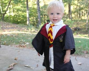 Harry Potter Inspired Costume - Toddler Harry Potter Robe and tie - Child Harry Potter Robe and Tie