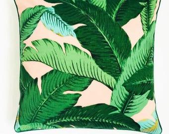 Palmiers avec housse de coussin rose