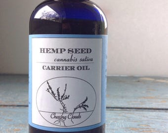 Hemp Oil - Unrefined - Aromatherapy - Carrier Oil - Massage Oil