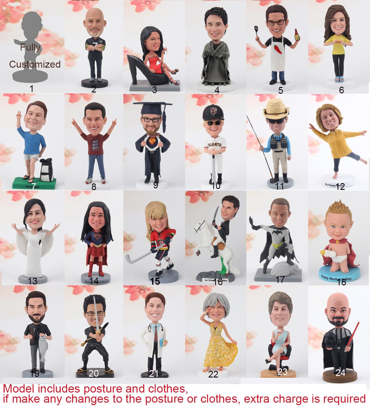 Custom bobblehead based on your photos and ideas Personalized