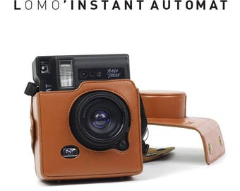Brown Lomo Instant Automat Camera Bag Protection Case.