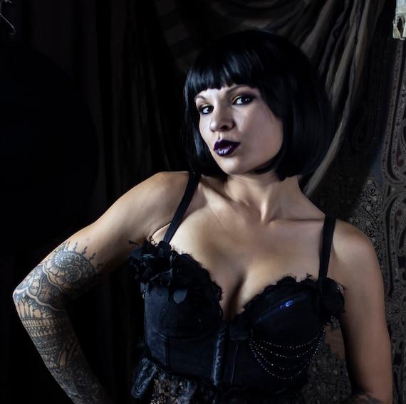 Black Burlesque Sparkle Bodice