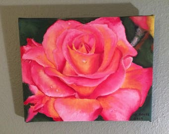 """Peace Rose Giclee Oil Painting 8"""" X 10"""""""