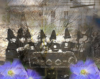 ZNE ATC ACEO - A Witch Tea Party- Digital Collage Art by ruby