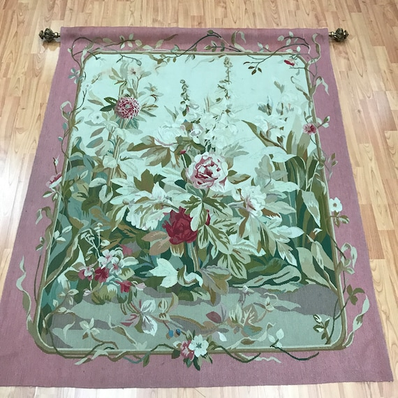 "4'2"" x 5'1"" Hanging Chinese Tapestry - Hand Made - 100% Wool"