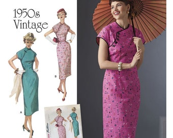 Pattern Simplicity 1950's Vintage Style (2016)  New and Uncut, Factory Folded - Paper Pattern Plus Size 14-22