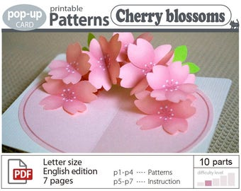 printable pattern__Cherry blossoms   (digital download file)