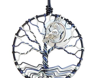The Raven Tree of Life Pendant Wire Wrapped Jewelry