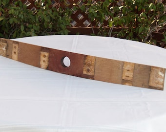 Wine barrel stave with bunghole