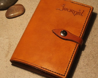 Handstitched Leather Moleskine Journal Cover