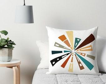 Retro Pillow, Abstract Pillow, Art Pillow, Retro Art Pillow, Couch Pillow, Accent Pillow, Throw Pillow, Mid Century Modern, Art Cushion