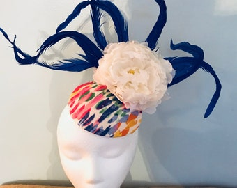 Kentucky Derby fascinator, oaks, thurby, headpiece, derby hat Kentucky Derby Hat Alternative, Floral Fascinator