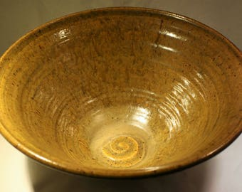 Handcrafted Pottery Serving Bowl * Signed by Artist