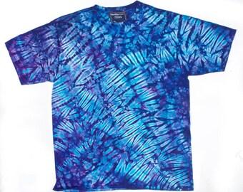 XL Shibori Men's T Blue Saphire Tie Dye Mens Shirt