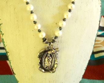 Handmade Our Lady of Guadalupe sterling silver collection