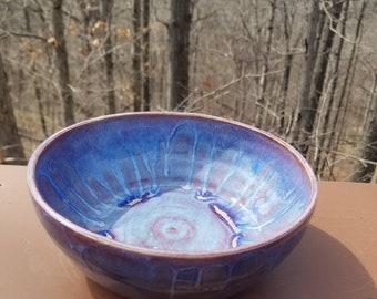 Handmade pottery bowl, ramen bowl, prep bowl, soup bowl, ice cream bowl, serving bowl, hold 3 cups, FREE SHIPPING