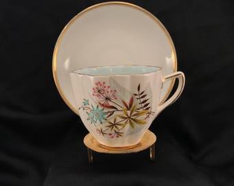 China Teacup & Saucer, Old Royal Bone China England Tea Cup, Est 1846, Saucer Noritake Japan, Coffee Serving Cup, Item #547103086