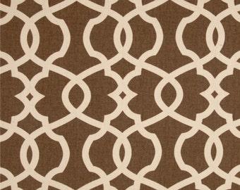 Emory Chocolate cotton fabric by the yard lattice Magnolia Home Fashions