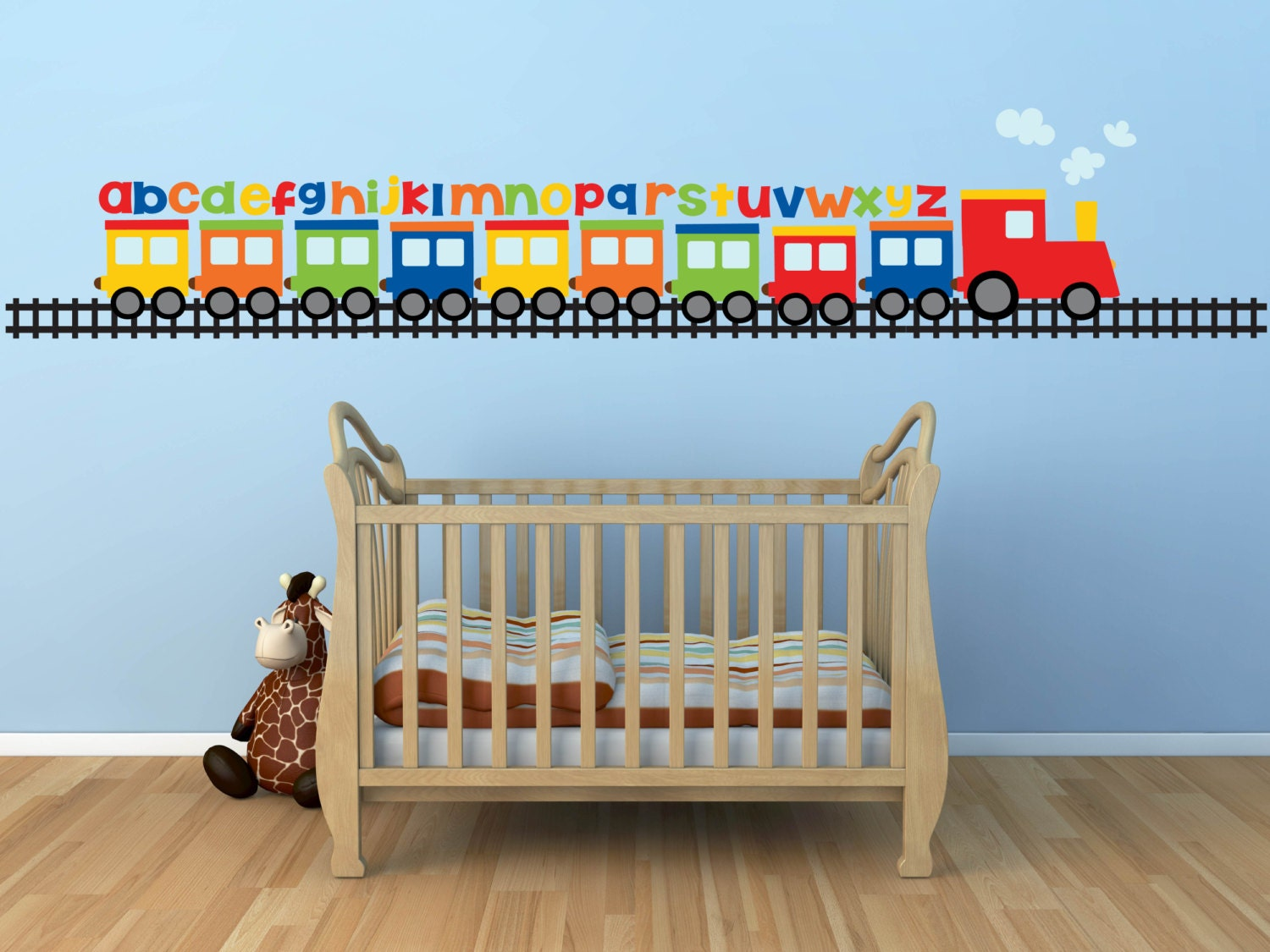 Train wall decal alphabet decal abc wall decal zoom amipublicfo Images