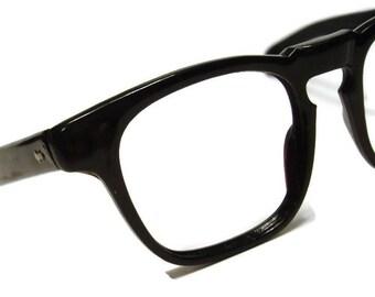 Vintage Black Horn Rim Eyeglasses Frame