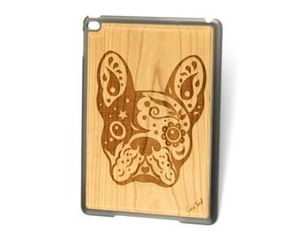 iPad Air case, iPad Mini case, iPad Mini 2 case, iPad 3 case, iPad engraved case, custom iPad case,Bulldog wood engraved case