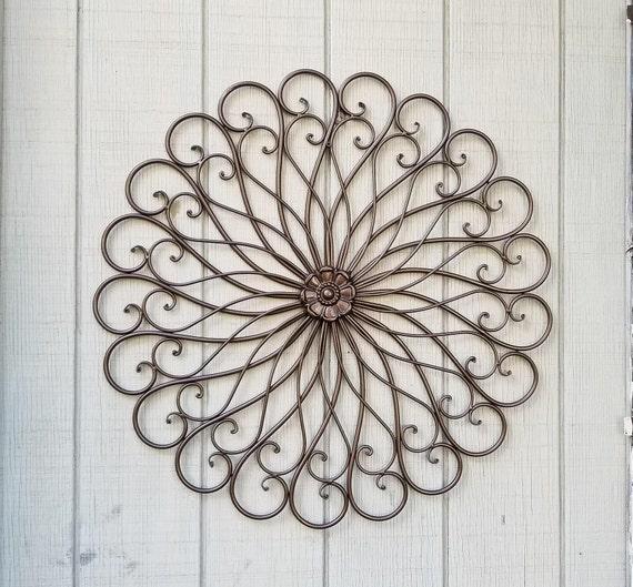metal wall decor metal scroll iron wall decor wrought. Black Bedroom Furniture Sets. Home Design Ideas