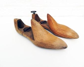 Antique Vintage French Wood Shoe Mold Form, Wooden Shoe Forms, shoes, tailor shoe stretcher tailor shoemaker cordwainer cobbler