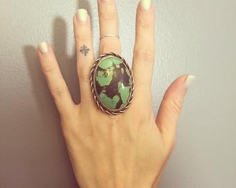 Green Turquoise Southwestern Ring