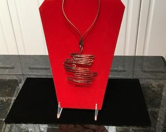 Vintage Hattie Carnegie Modernist Statement Necklace